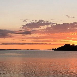 A typical sunset viewed from one of Waiheke's numerous beaches... enjoy the atmosphere over a glass of champagne from our chilled picnic hamper at the end of your full- or half-day tour of the Island.