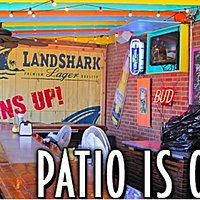 Our Patio is a great place to relax, enjoy and meal or a few cold ones.