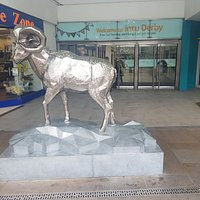 The newer Derby Ram at one of the other entrances to the Intu