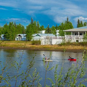 Situated on the banks of the Chena River
