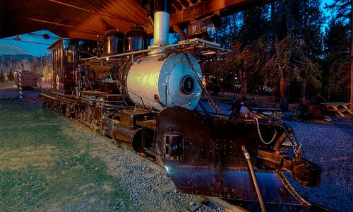 Engine No. 9, one of the original locomotives that served Breckenridge in the 1800s. Now on display year round at the High Line Railroad Park.