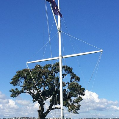 Flag flying for ANZAC Day