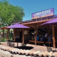 Outdoor dining and our huge community picnic table