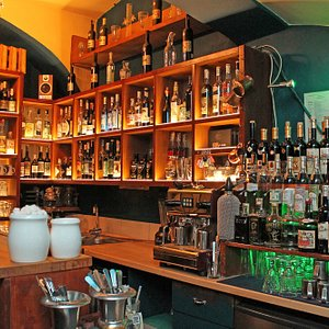 Even though the whole bar is very cosy we got wide absinth colection