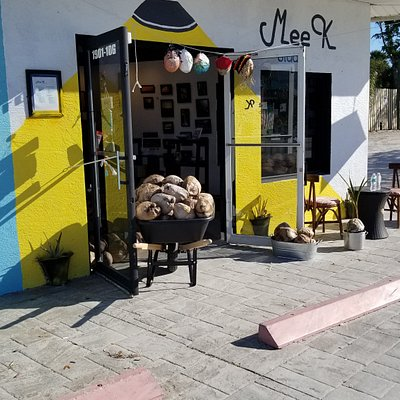 Mee K Studio is Fort Myers Beach first interactive studio. Home of the paint your own coconut.