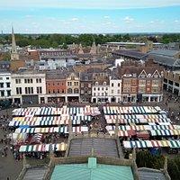 Vista aerea del mercado.