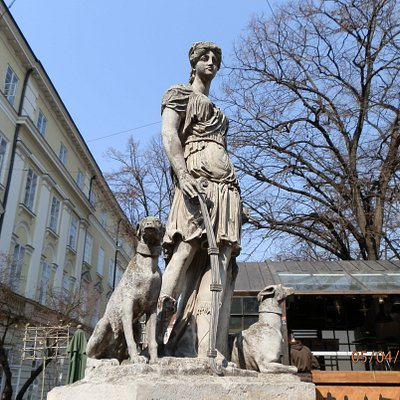 WELL WITH A FIGURE OF DIANA - LVIV