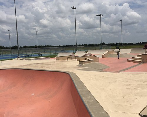 Skate park, playground, indoor track, pools