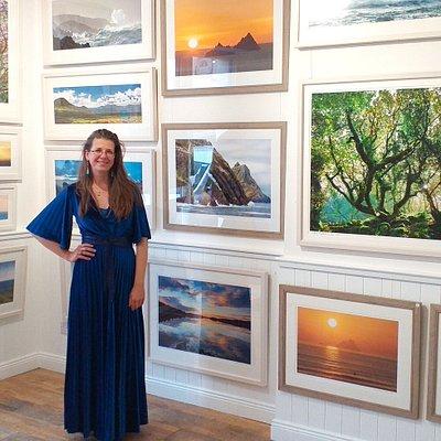 German-born photographer Madeleine Maria Weber in her Gallery in Waterville