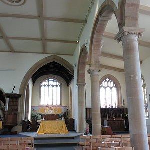 inside the church, quite simplistic but beautiful...