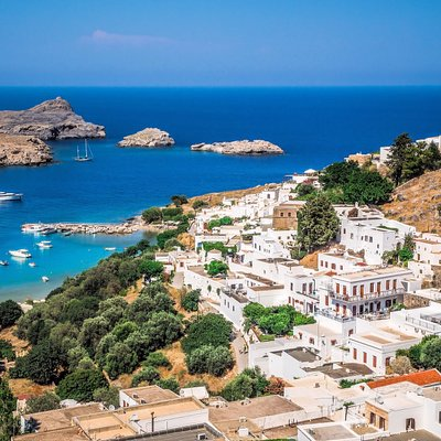 Village of Lindos, Rhodes, Greece