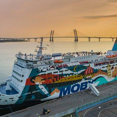 The ferry Princess Anastasia in St. Petersburg