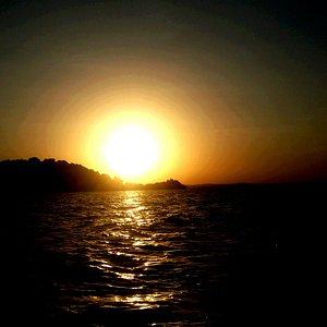 Sunset at lake tana