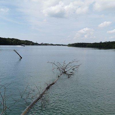 The vastness of Kuantan River.
