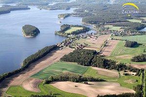 Jezioro Wdzydzkie z lotu ptaka Tel. 731 25 26 25