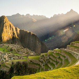 Machu Picchu at sunrise by Nate Luebbe for Killa Expeditions