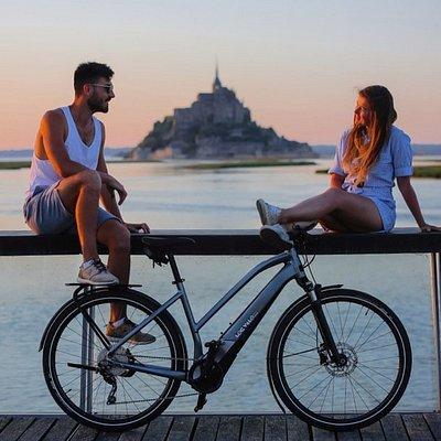 Mont Saint Michel avec Petite Reine