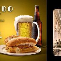 Vengan a echarse nuestra Torta Estribo. Nuestra tradición emblemática de queso manchego, chorizo salamanca, jamón serrano y pierna horneada estilo español  Tenemos 2x1 en cervezas participantes y 2 botellas a un precio especial