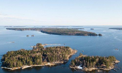 Archipelago in Eastern part of Gulf of Finland, near Hamina.