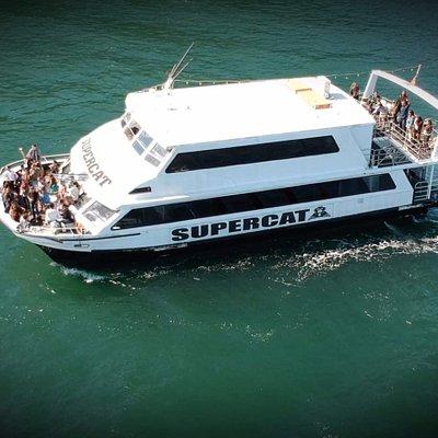 Set sail on board the MV Supercat - a 22meter long twin level catamaran on Sydney Harbour, Australia
