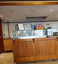 counter and menu