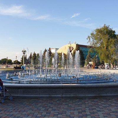 Ставрополь. Светомузыкальный фонтан на Крепостной Горе