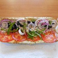 Subway, Dekabrskikh Sobytiy, 103, Irkutsk, Russia. Will you just look at this Tuna Footlong sandwich.