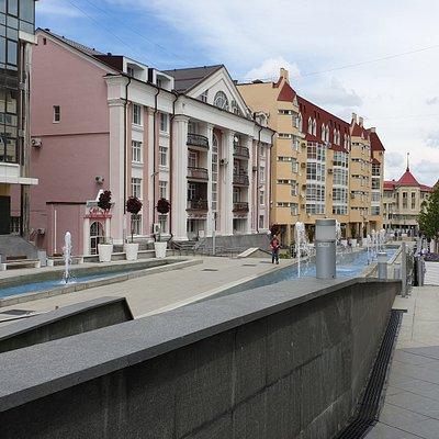Ставрополь. Каскад фонтанов на пешеходной улице