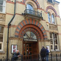 The entrance to the Corn Exchange