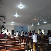 Missa dominical na Paróquia do Senhor Bom Jesus