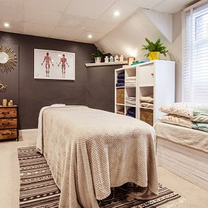 One of our cosy and welcoming treatment rooms.