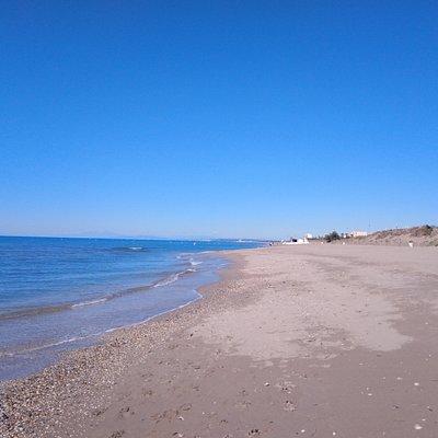 Beautiful beach , looking towards the west