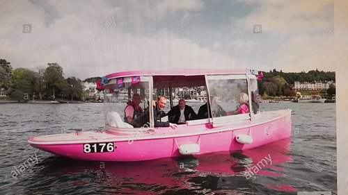 This is our sponsored boat in aid of Cancer Research and holds ten people