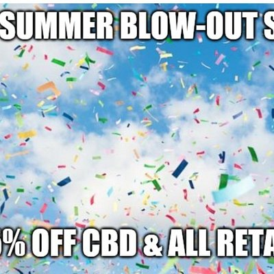 Summer Special on all CBD! Get yours today.