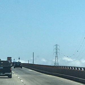 Heading Southwest across the San Mateo - Hayward Bridge