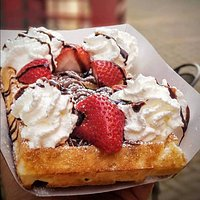 What started all from our familly past generation. Our authentic Belgium Brussels Waffle. The biggest stapple in the East Coast. Perfectly handmade providing a level of crispyness that can only be achieved with our imported equipment from Belgium. Each waffle dough rest to rise for approximately 18Hrs prior being baked. Topped with Nutella & Strawberries. Then we add our homemade Chantilly Cream on top. A waffle that will generate memories.