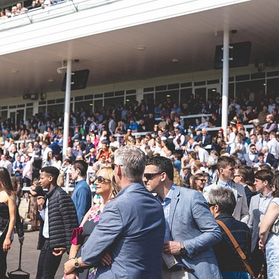 Racegoers enjoying the races, an excellent day out