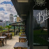 Our beautiful terrace overlooking Media City