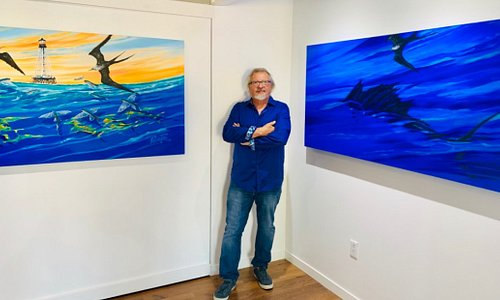 Pasta at his April 2019 Exhibit at Ocean Sotheby's in Islamorada