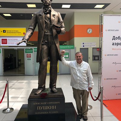 I was very fortunate to be at this statue unveiling.  And with honor the first tourist selfie to be taken .  The Pushkin story and his name was seen a lot while in Moscow.  And it's a very fine statue indeed!