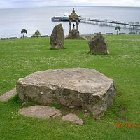 The Central Logan Stone in the Druid Circle & a lovely view of Llandudno Pier and Bay