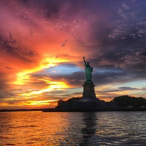 View of Lady Liberty from RIB Boat