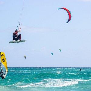 Jump higher than windsurfing masts hah