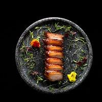 Honey-glazed barbecued duroc pork belly char siew