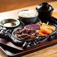 Beef Teppanyaki. Big lunch