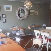 Our indoor seating is filled with a bright, warm and friendly atmosphere from our large windows, interior design and lovely staff. We are also dog friendly.