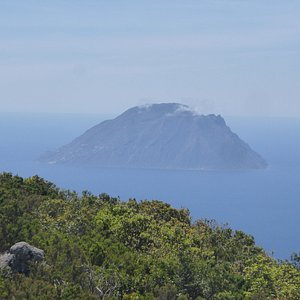 Alicudi island seen from the top of Filicudi