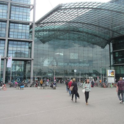 Walk in this front entrance of the Central Train Station, You will find it to the right.