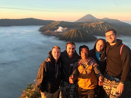 Canada customers on the top of Bromo crater