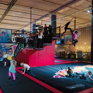 At regular hours Jump-in is accessible for 7 years and older, but there are special times for mini-jumpers under 7.